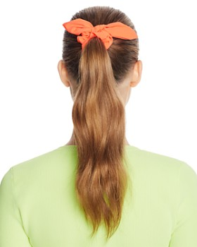 AQUA - Neon Bow Detail Scrunchies, Set of 3 - 100% Exclusive