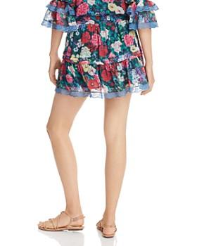 Rococo Sand - Ruffled Georgette Mini Skirt