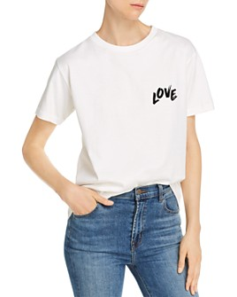 Rebecca Minkoff - Westin Brushstroke-Effect Love Graphic Tee