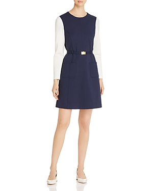 Size & Fit: Fits true to size, order your normal size Body-skimming fit through bust and hips; fitted through waist Stretch fabric Designedto hit above the knee Approx. 37 from back of neck to hem, based on a size small Model measurements: 5\\\'10 height, 33.5 bust, 23.5 waist, 34.5 hips, wearing a size small Features & Care: