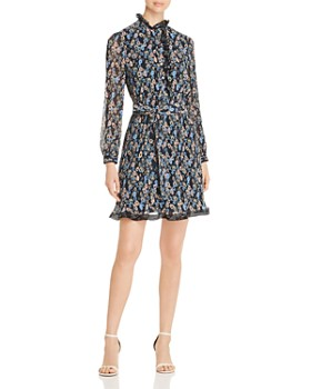 Tory Burch - Deneuve Floral-Print Plissé Dress