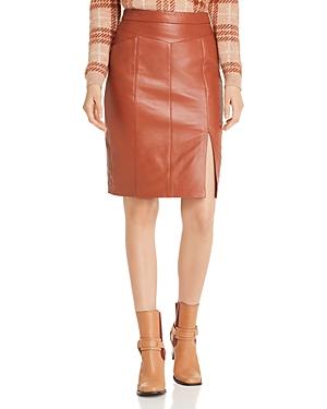 Mkt Studio Jamaya Cognac Leather Skirt