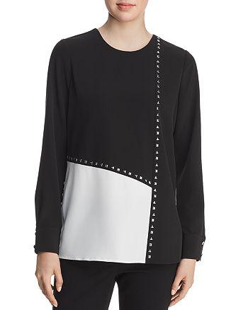 Calvin Klein - Studded Color-Block Blouse