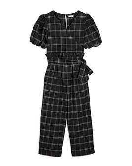 Habitual Kids - Girls' Plaid Wrap Jumpsuit - Big Kid