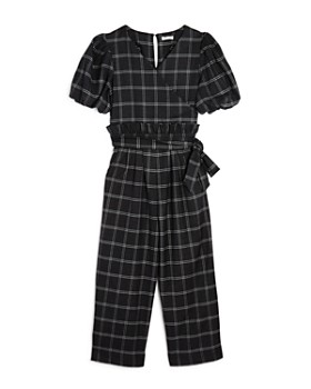 Habitual Kids - Girls' Plaid Wrap Jumpsuit - Big Kid