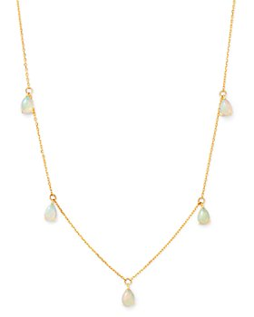 """Bloomingdale's - Opal Droplet Necklace in 14K Yellow Gold, 18"""" - 100% Exclusive"""