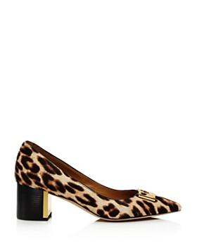 Tory Burch - Women's Gigi Pointed Toe Leopard-Print Pumps