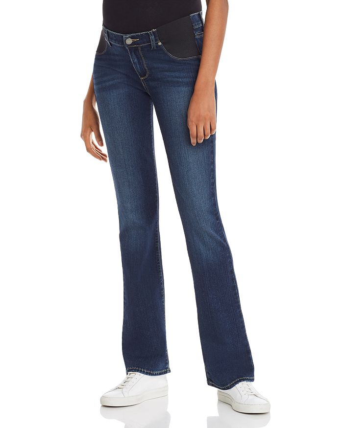 PAIGE - Manhattan Bootcut Maternity Jeans in Nottingham
