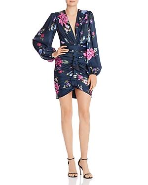 Jill Jill Stuart Ruched Floral-Print Mini Dress