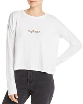 rag & bone - Cropped Logo Tee - 100% Exclusive