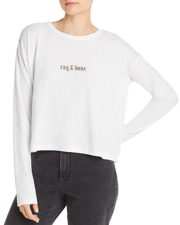 rag & bone - Cropped Logo Tee - 100% Exclusive
