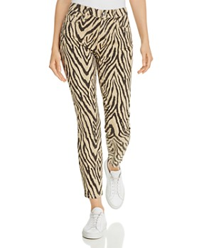 Current/Elliott - The High-Rise Stiletto Printed Skinny Jeans in Zebra - 100% Exclusive