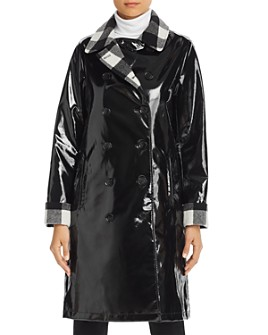 Jane Post - Double-Breasted Front Slicker Raincoat