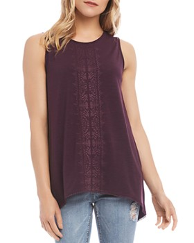 Karen Kane - Embroidered High/Low Tank