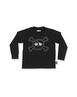 NUNUNU - Unisex Layered-Look Embroidered Skull Tee - Baby