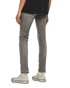 ALLSAINTS - Cigarette Damaged Skinny Fit Jeans in Grey