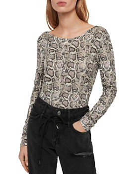 ALLSAINTS - Misra Snake Print Bodysuit
