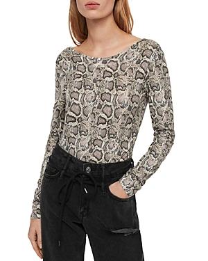 Allsaints Misra Snake Print Bodysuit