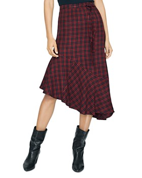 Sanctuary - She's the One Check Asymmetric Skirt