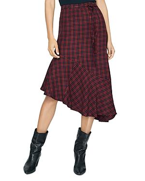 Sanctuary Skirts She's the One Check Asymmetric Skirt