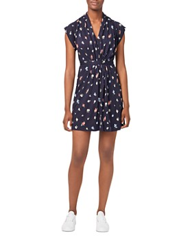 FRENCH CONNECTION - Roseau Shirred Floral Mini Dress