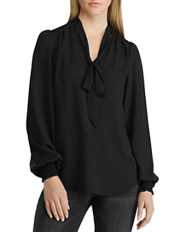 Ralph Lauren - Tie-Neck Top