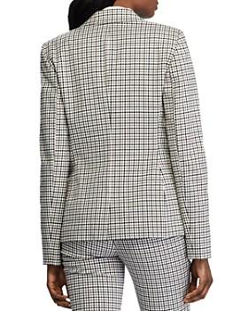 Ralph Lauren - Checked Two-Button Blazer