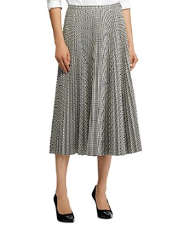 Ralph Lauren - Checked Pleated Skirt