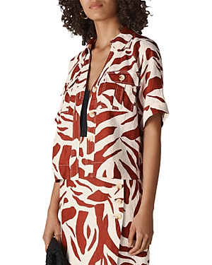 Whistles Zebra Print Linen Shirt