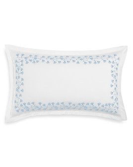 "Sky - Floral Embroidered Decorative Pillow, 14"" x 24"" - 100% Exclusive"