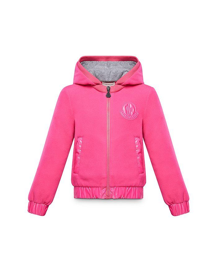 Moncler - Girls' Zip-Up Logo Hoodie - Little Kid