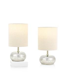 """Cresswell - Clarise 12"""" Mercury Accent Lamp, Set of 2"""