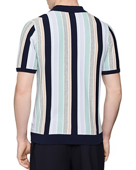REISS - Princeton Vertical Stripe Regular Fit Polo Shirt