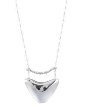 """Alexis Bittar - Pavé & Shield Pendant Necklace, 16"""""""
