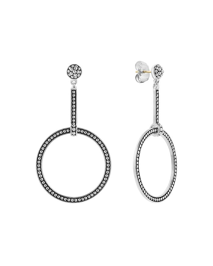 LAGOS - Sterling Silver Enso Circle Drop Earrings