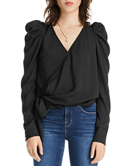 LINI - Grace Puff-Sleeve Wrap Top - 100% Exclusive