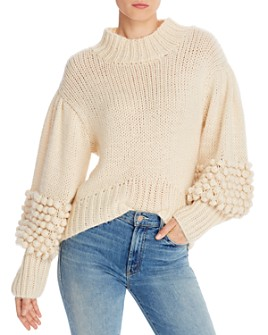 C/MEO Collective - Hold Tight Pom-Pom Sleeve Sweater