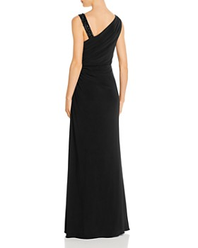 Adrianna Papell - Asymmetric Shirred Gown
