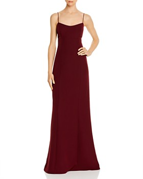 Aidan by Aidan Mattox - Lace-Back Crepe Gown