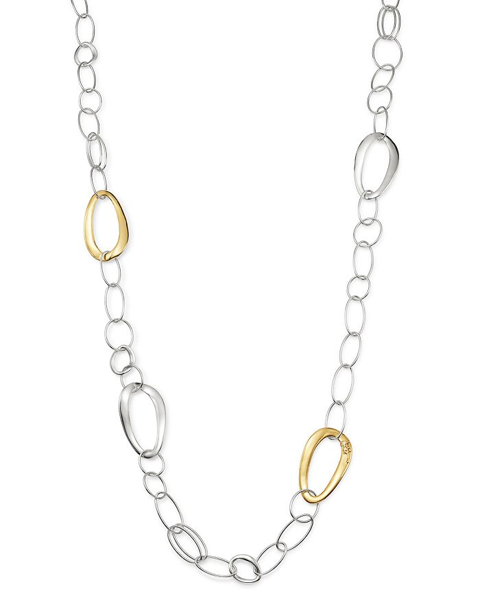 IPPOLITA - Sterling Silver & 18K Yellow Gold Chimera Chain Necklace, 41.5""
