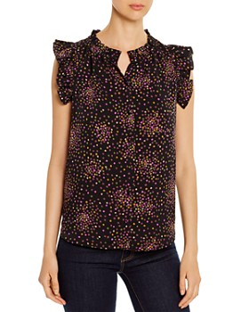 kate spade new york - Disco Dots Sleeveless Blouse