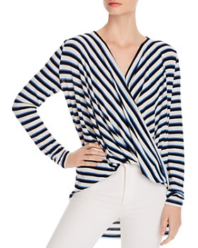 Vero Moda - Kia Striped Faux Wrap Top