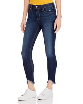 Level 99 - Janice Frayed-Hem Skinny Jeans in Frenzy