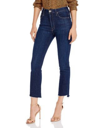 Insider Step Crop Fray Jeans In Clean Sweep by Mother