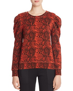 PAM & GELA - Puff-Shoulder Snake Print Sweatshirt - 100% Exclusive