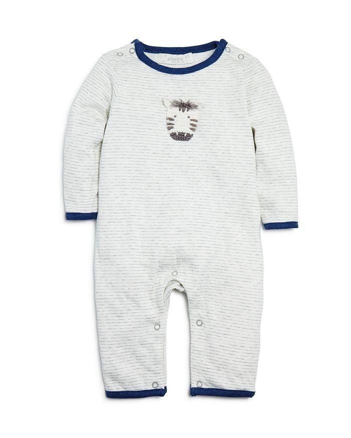 Albetta - Unisex Striped Zebra Coverall - Baby