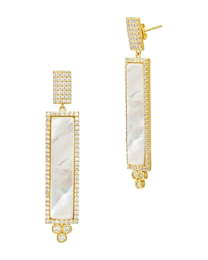 Freida Rothman Color Theory Linear Drop Earrings in 14K Gold-Plated Sterling Silver or Rhodium-Plate