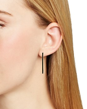 Argento Vivo - Montauk Enamel-Detail Skinny Hoop Earrings