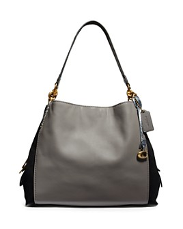 COACH - Dalton 31 Color-Block Exotic Shoulder Bag