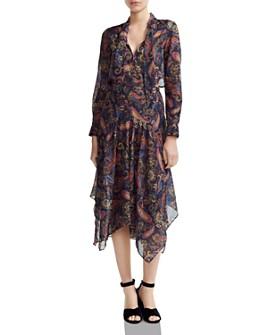 Maje - Rista Paisley-Print Tie-Detail Midi Dress